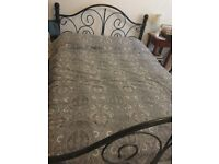 iron bed with mattress