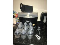 Steriliser x2, bottles, bottle warmer,
