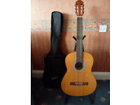Jose Ferrer Classical Guitar with Bag & Stand as New - For Sale