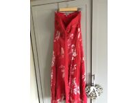 Monsoon formal silk bridesmaid prom dress size 10