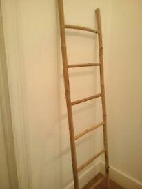 Ladder Towel Rail Bamboo