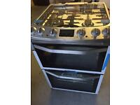 John Lewis dual fuel gas cooker - stainless steel (brand new!)