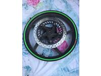 Here is a honda cbr 125 front wheel rim
