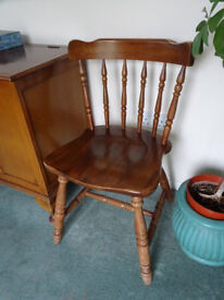 Stickback chair £12