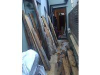 *FREE* Big Pile of Wood (Old Floor Boards / Joists)