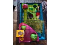 Large Hamsters cage, ball and play pen