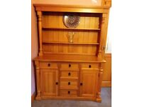 Solid wood welsh dresser, sideboard, chest, display unit