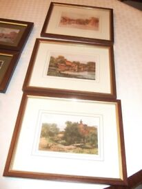 SIX PROFESSIONALLY FRAMED PRINTS OF LOCAL AREA BY WELL KNOWN ARTISTS ~price is for the lot!!
