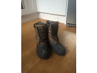 Lineaeffe Camo Boots Size 7.5-8 42/43 Hard wearing Walking, fishing climbing...