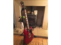 Epiphone ( by GIBSON ) SG guitar, Cherry Red, 2001 Korean model.