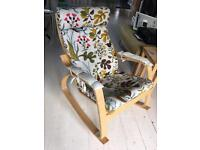 Lovely ikea Poang rocking chair with print cover