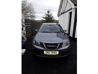4 door SAAB 9-3 Vector Sport TID Automatic 2008, diesel and grey in colour.