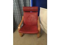 Ikea Poang Chair in Red