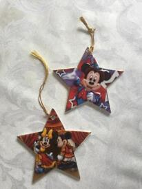 2 DISNEY 3D China Christmas Hanging Stars