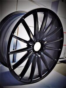 NEW! 18 inch FULL MATTE BLACK!! WITH NEW TIRES!! Multi bolt pattern - STAGGERED AVAILABLE! - LG06
