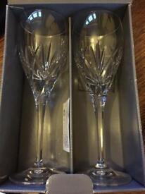 Genuine Waterford crystal goblet glasses