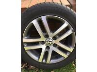 "VW Atlanta 16"" Alloy Wheels and Tyres"