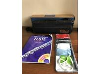 Flute - Elkhart 101FLU - Student flute PLUS care kit AND practice book with 2 CDs