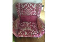 Used DFS flowered chair