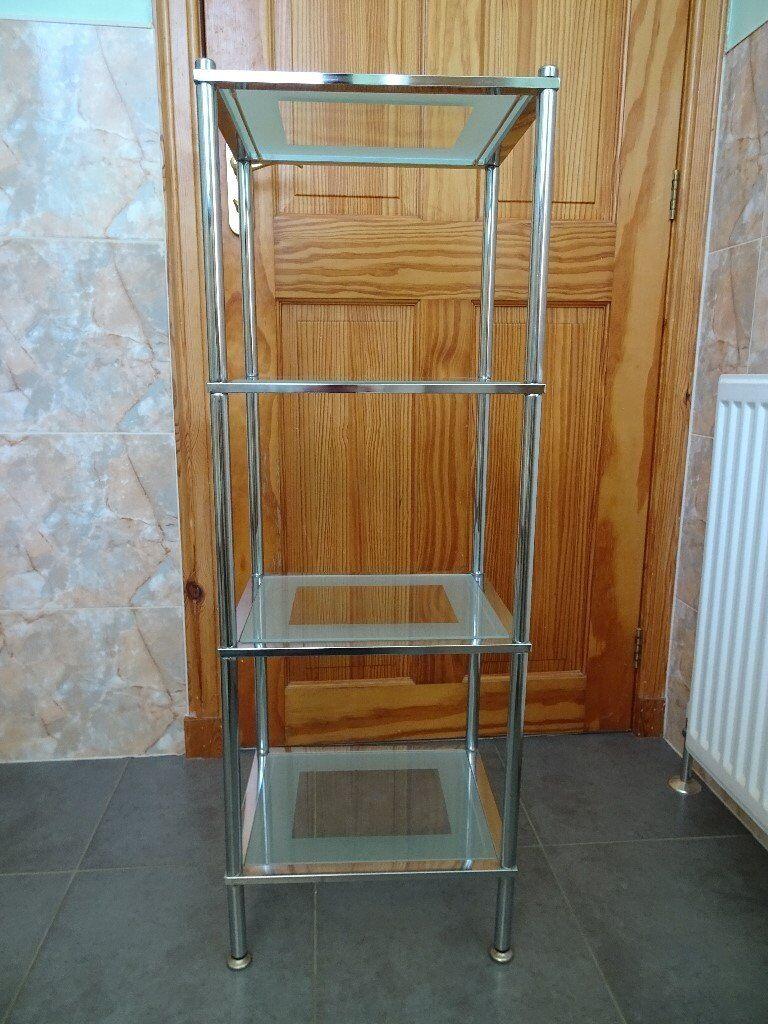 john lewis 4 tier rust resistant stainless steel  glass