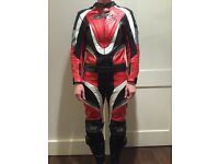 Ladies two piece zip together RST leather motorcycle suit UK 12