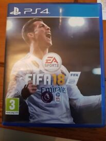 PS4 FIFA 18 in excellent condition