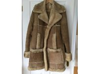 Sheepskin coat for men, good as new. Size 44 chest, length 38 inches