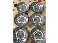 Set of 6 vintage saucers - English Ironstone