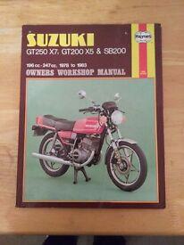 Suzuki GT250 X7, GT200 X5 & SB200 Haynes Manual