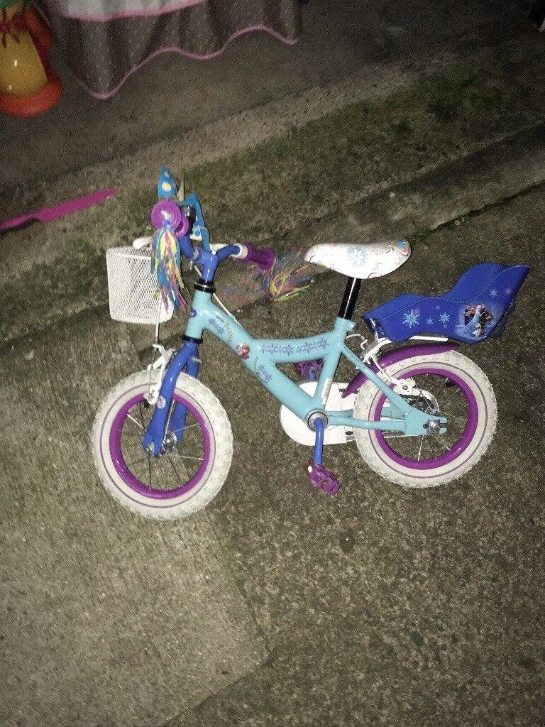 e732c8ecc7e BICYCLE , GIRLS,FROZEN BIKE,4-6 YR OLD CHILD,   in Darlington ...