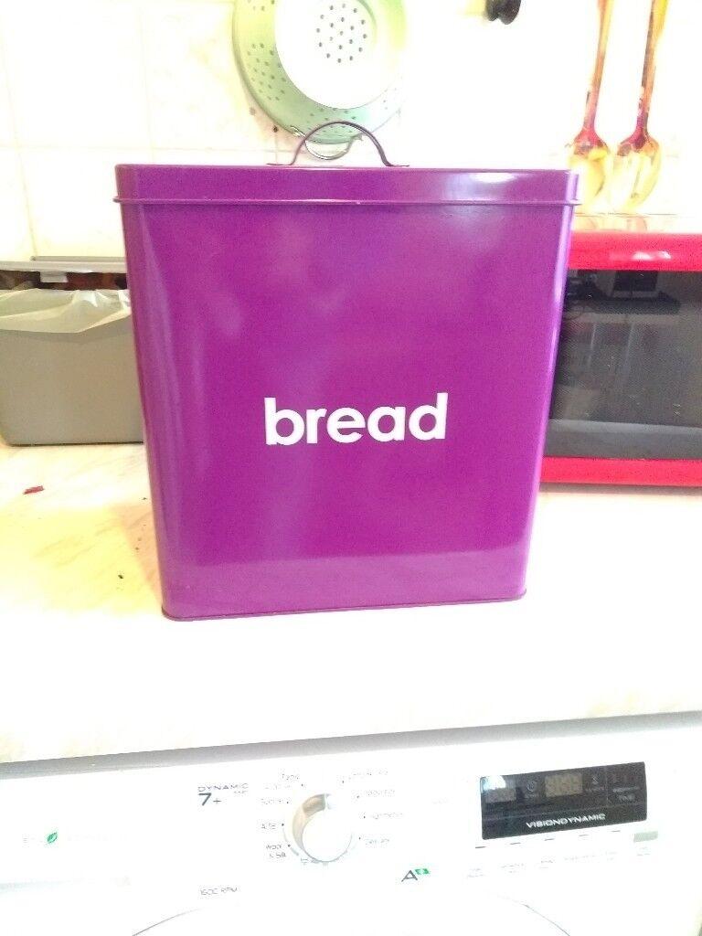 Wilko Bread Biscuit Sugar Coffee Tea Bins Tins Purple In Middleton Manchester Gumtree
