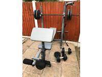 Multifunctional Bench With 65kg Weights Set. •Can Deliver•