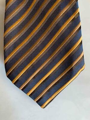 Charvet lieu vendôme rayé cravate soie tissée