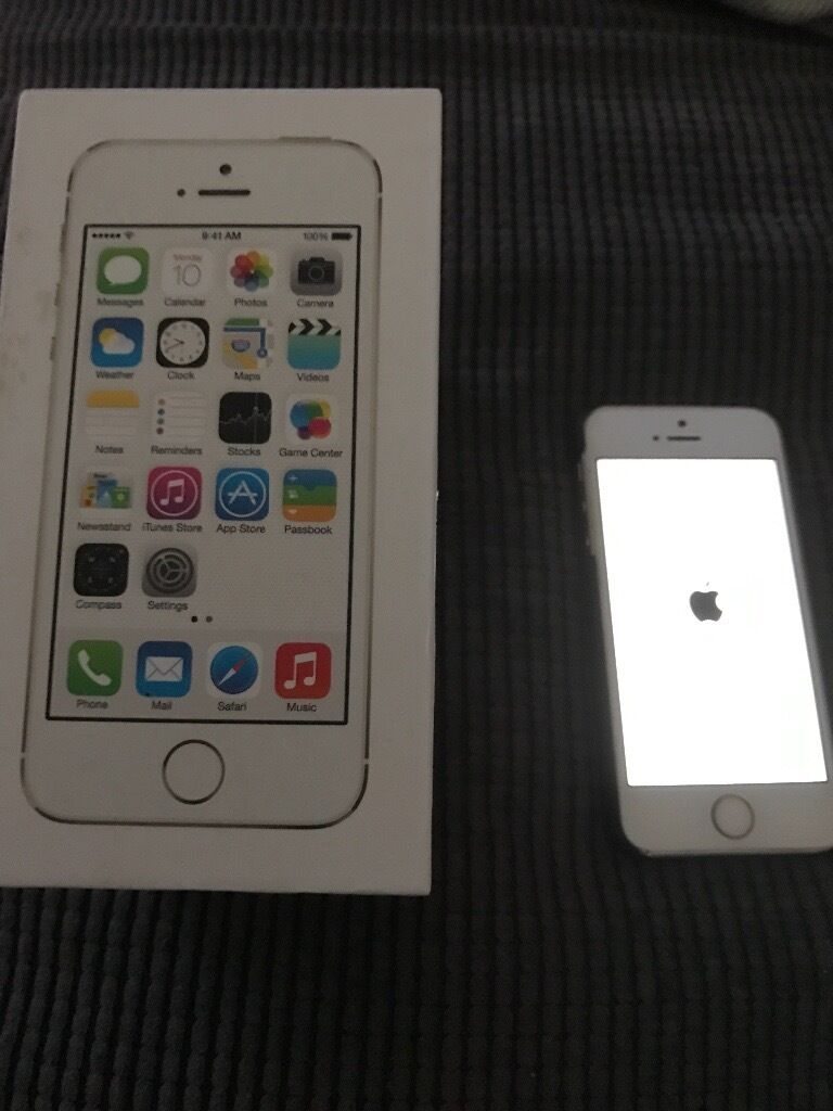 iPhone 5s white on Vodafonein Brimington, DerbyshireGumtree - iPhone 5s in white on Vodafone network. In excellent condition everything works as it should. Comes boxed but needs a charger (under £5 on eBay). Call/text mark on 07576666746 £100