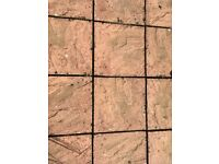 WANTED Red/pink 40cmsx40cms riven patio/paving slabs - used