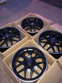 Mercedes C 63AMG alloys 19 inch S e a class Vito
