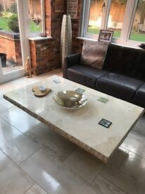 Coffee table marble travertine 1400 x 900