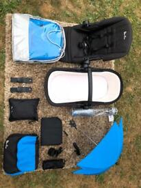 "Silver cross ""sky blue"" Wayfarer travel system"