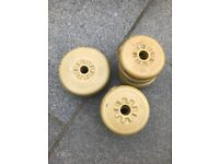 2x2.3kg and 8x1.1kg , YORK weight plates, 1 inch diameter £10 the lot