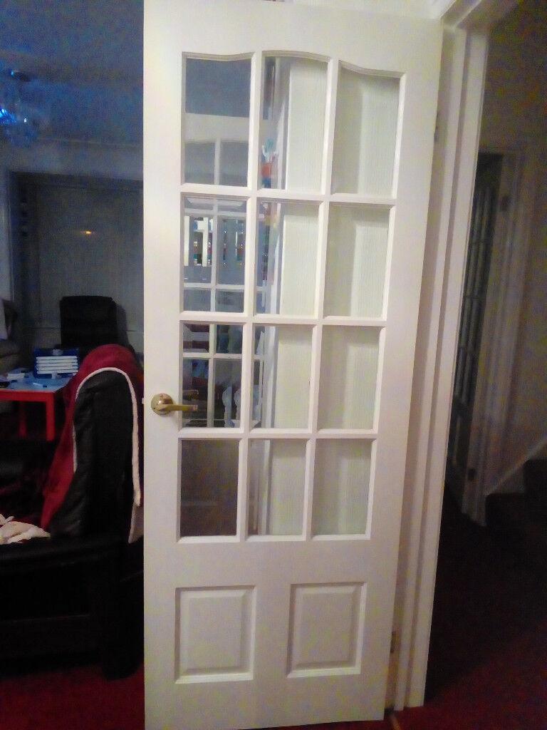 1 Bevelled Glass 12 Pane Interior Door In Bridgend Gumtree