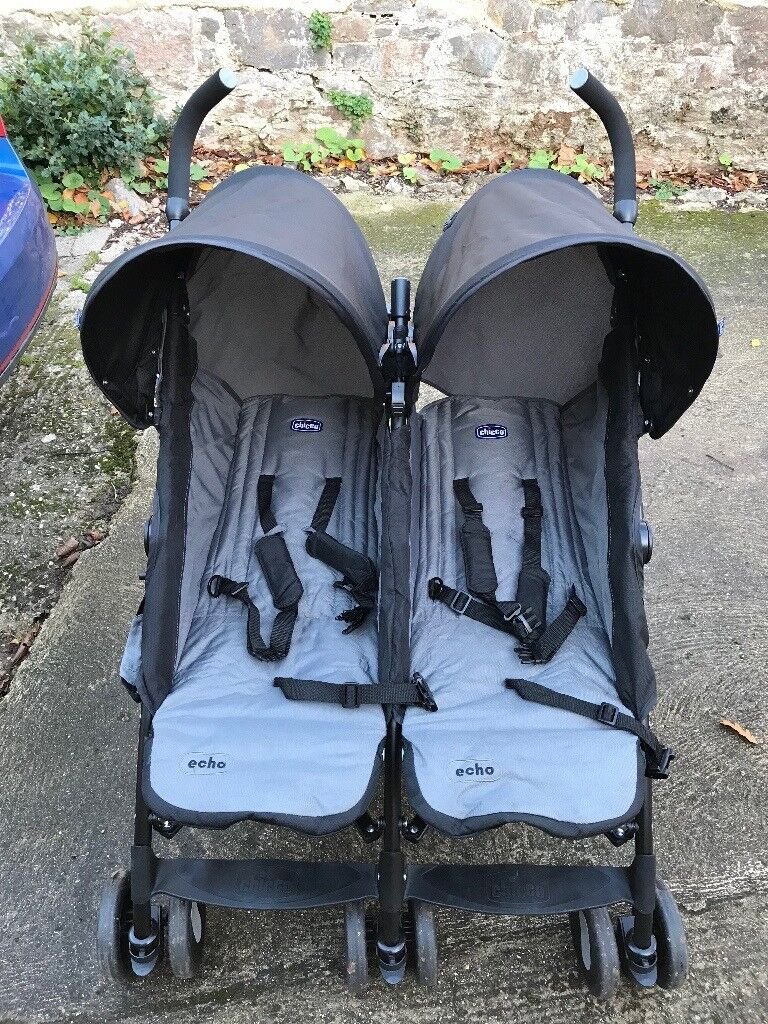 Chicco Double Stroller & Raincover