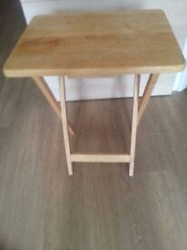 Big Sale - 2 wood side tables + wood small table +2 Wooden cupboards + 1 Wooden TV Stand with wheel