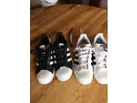 Adidas Superstars size 4