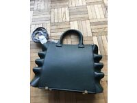Brand new Forest green handbag with strap