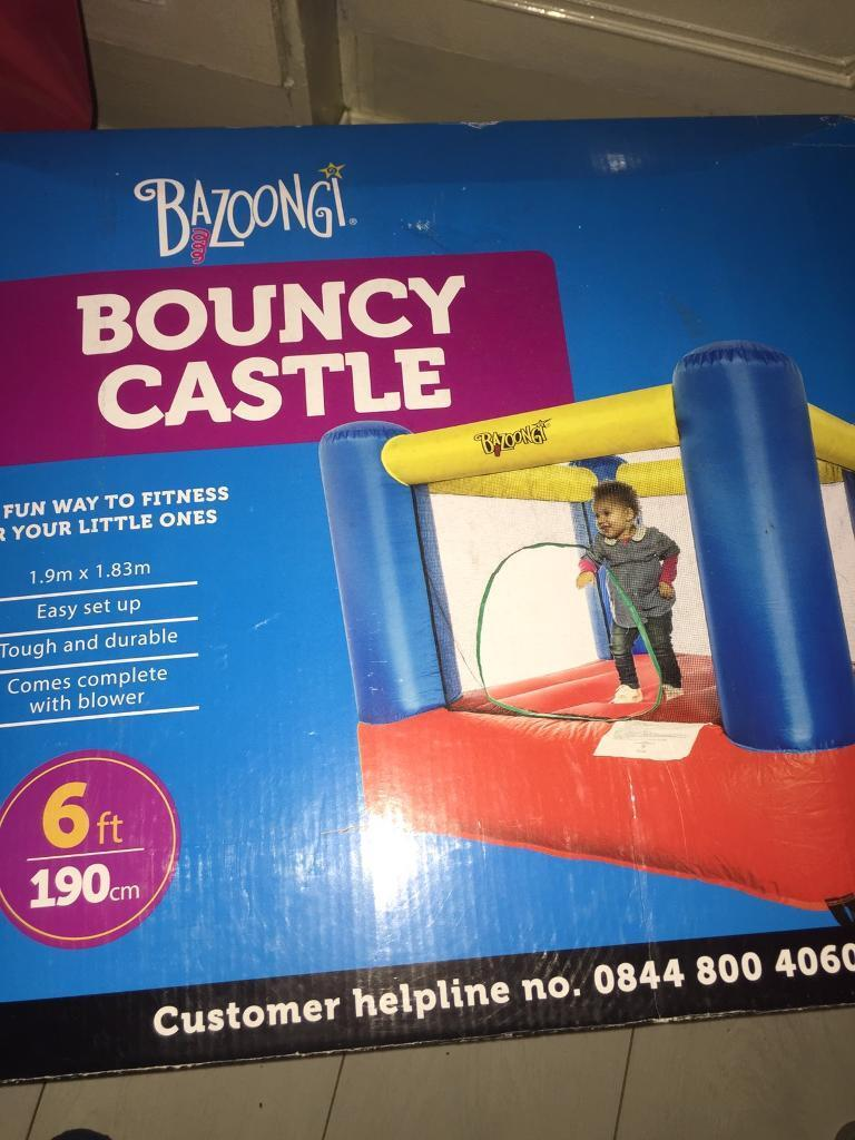 Brand new childs bouncy castlein Anfield, MerseysideGumtree - Brand new childs bouncy castle 6ft (190cm) paid £79 in ( cash converters) price still on box has large blower box little damaged every thing else brand new unopened great bargain £35 please collect only