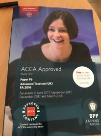ACCA P6 advanced taxation book for sale secondhand very good condition