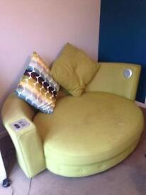 URGENT SALE! Round Green Sofa with iPod docking