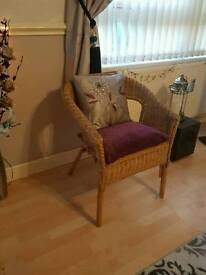 Wicker Chair and Cushions