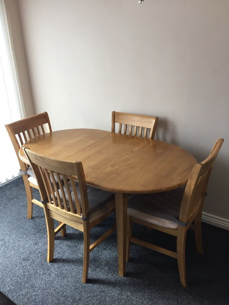 Dining table and 4 chairs from Homebase