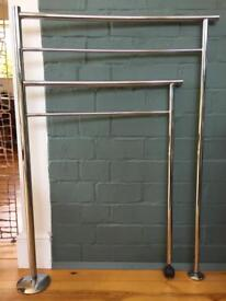 Habitat moveable towel rail. Chrome